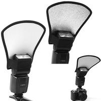 Camera Flash Diffuser Softbox Silver and White Reflector for Canon 580EX Nikon SB-600 Pentax Yongnuo Accessories Free Shipping