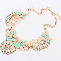 New Arrival Fashion Pendant Necklace Jewelry Hot Wholesale Sweet little fresh alloy resin short Necklace