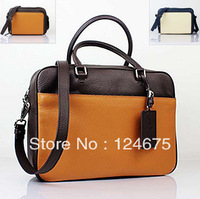 P Bag Men's Commercial Bag Lychee 100% Genuine Cowhide Men's Brifecase Bag Men Messenger Bags Laptop bag 1011