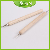 Free Shipping Wholesale Brand New Wooden Nail Dotting Tool Double Head Dotting Tools
