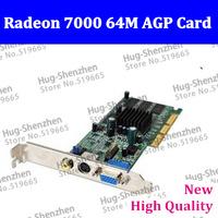 Hot sale Sapphire New ATI Randeon 7000 64M DDR VGA/TVO/AV AGP video card Free shipping