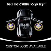 Masonic Freemason Mason Square and Compass GOBO Car Door Emblem LED Laser Projector Puddle Logo Light For Ford Nisson Honda 1523