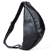 Tiding 2013 cattle summer fashion male large capacity genuine leather chest pack cross-body 3082
