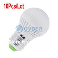 10Pcs/Lot E27 SMD5050 7 LED Bulb Lamp 3W 110V Cold White Energy Efficient Bulbs 15309