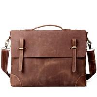 Cattle man bag vintage cowhide genuine leather men's commercial handbag bag shoulder bag messenger bag briefcase 3122