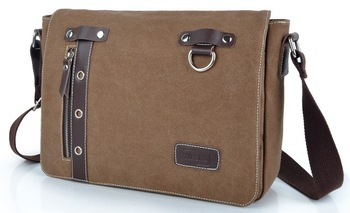 2014 new men canvas vintage shoulder bag messenger bag business bag  LF06700b