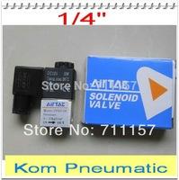 "1/4"" NPT or BSPT 5 Way Air Control Valve Peumatic Solenoid Valve Aluminium Alloy 2V025-08"