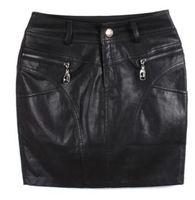 5xl 4xl waist 100 hip 116 110cm autumn winter leather skirt female plus size mm short skirt slim hip black PU skirt bust skirt
