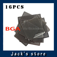 16pcs/set Freeshipping  Universal Direct Heating BGA Reballing Stencils 0.3 0.35 0.4 0.45 0.5x2 0.6x7 0.76x3