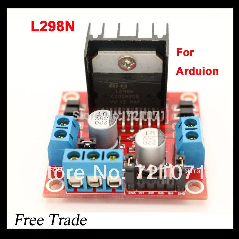 New Dual H Bridge DC Stepper Motor Drive Controller Board Module L298N for Arduino Free Shipping TK0450(China (Mainland))