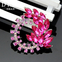 6PC/Lot  New Arrival High Quality design white plated resin brooch for scarf pins jewelry  --- Af018