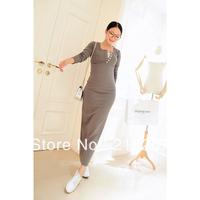 2013 spring and autumn women's slim button long-sleeve dress full dress female dz2177