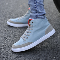Summer male skateboarding shoes the tide single shoes blue canvas shoes british style casual shoes low-top shoes male shoes