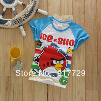 In stock wholesale 1 lot = 5 pieces 2013 China lot  summer tee t shirt boys brand clothing kids clothes cartoon popular hot