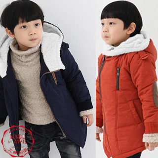 Retail 2013 new kids boys' winter hooded coat top quality thick wadded jacket/parkas child clothing Free shipping(China (Mainland))