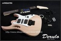 DIY Electric Guitar Kit  Left Handed  Bolt-On  Solid Mahogany Body & Neck