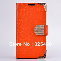 Free shipping high quality luxury fashion bling diamond flip leather case cover for samsung galaxy s3 i9300, 6 colors, MOQ 1pcs