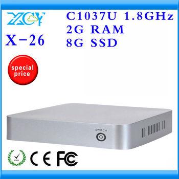 Promotional price!!! computer case itx mini-itx case htpc case INTEL C1037U Celeron Dual-core 1.8GHz CPU