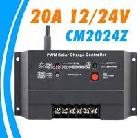 CM2024Z Juta 20A solar charge controller solar charge controller 20 Amps 12V 24V solar panel charger controller one button setup