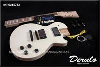DIY Electric Guitar Kit  Bolt-On  Spalted Maple Veneer Top  Solid Mahogany