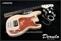 DIY Electric Bass Guitar Kit  Bolt-On  Solid Mahogany Body