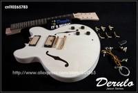 DIY Electric Guitar Kit  Set-In Neck  Hollowbody  Flamed Maple Veneer