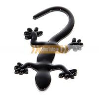 Free shipping.2Pcs/lot 3D Gecko Chrome Car Logo/ Symbol/ Mark/ Signs Universal Sticker (Black)---IM7043R24