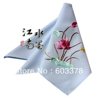 25cm*25cm Charm Embroidery China silk Handkerchief 5049 for Fashion Women Christmas & Birthday & Valentine Gifts Free Shipping