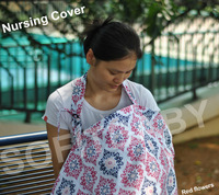 Adjustable Cotton Baby Nursing Cover With Material Bag