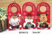 "10"" MERRY CHRISTMAS Home Decoration Snowman Decor Santa Tree Ornament Xmas Gifts Door Hanging Decor FREESHIPPING"