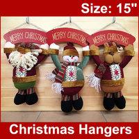"1pc 15"" Christmas Hanging Decoration Santa Claus Decor Santa Tree Ornament Xmas Gifts MERRY CHRISTMAS"