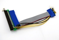 Pack(10) New Powered PCI-Express PCI-E x1 to 16x Extender Flexible Ribbon Cable 25cm