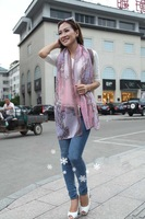 2013 thin fashion scarves, scarves, 2013 ms han edition new winter big cashew printing BaLiSha foreign trade , free shipping
