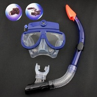 Free shipping Blue 4GB Liquid Image Underwater Digital Camera Diving Mask New