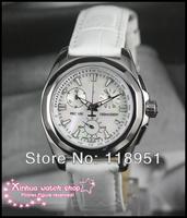 2014 Original High quality luxury leather strap Swiss quartz movement Multifunction Ladies Watch Sapphire