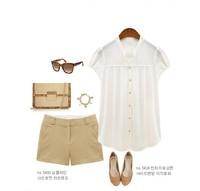 2013 fashion women solid chiffon blouse & shirts