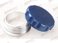 "2.5""63.5mm Aluminium Alloy Weld On Filler Neck And Cap Oil, Fuel, Water Tank Blue"