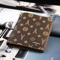 Fashion Mens Cowhide+PU Bifold Purse Card Clutch Cente Pocket Wallet  #2
