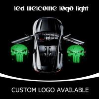 Punisher Laser Logo LED Car Door Projector Ghost Shdow Welcome Puddle Light  1948 Green  OR CUSTOM LOGO