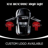 Punisher Car Door Projector Ghost Shdow Welcome Puddle Light Laser Logo LED Light 1948 Red  OR CUSTOM LOGO