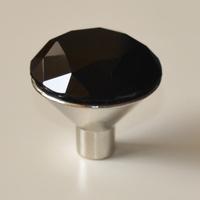 24pcs Furniture knobs drawer handles / Diamond Crystal black knobs/ cabinet knobs Dia. 30mm
