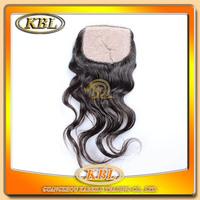 "Factory price silk base closure brazilian hair body wave 4""x4"" free style top closure 10""-18"" free shipping"