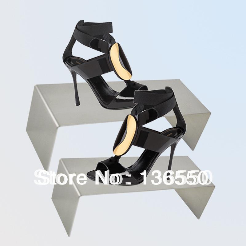 acrylic shoe display shelf clear shoe display stand shoe