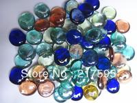 Free shipping Large flat beads aquarium fish tank vase decoration glass ball