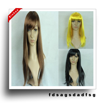 Wigs for women in Fancy Dress Costume Ball,Costume Wigs Yellow Black Brown Color Retail Free Shipping