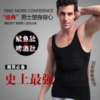 2014 promotion hot sale men's  sport body slimming undershirt shaper vest muscle abdominal fat mass burning tank tops, shipping