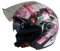Professional dot approved half helmets with Controable Internal Black Sunglass,DOT, ECE Approved LS2 OF 569