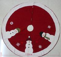 Christmas decoration quality flannelet christmas tree skirt Christmas supplies christmas tree decoration