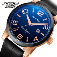 Free shipping leather strap watches luminous waterproof analog watch quartz watch