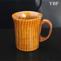 Milk tea coffee Elegant Anti-hot Wooden Wild jujube wood Mugs cute london travel vintage gift teaberries coffe Cup tureen sets